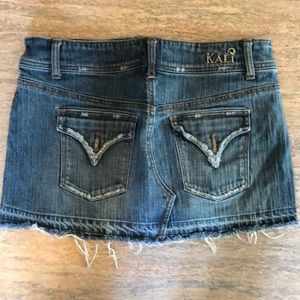 Kali Denim jean mini skirt